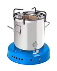 Off The Grid Bio Energy Cooker - Sky Blue