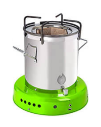 Off The Grid Bio Energy Cooker - Lime Green