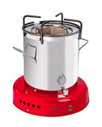 Off The Grid Bio Energy Cooker - Red
