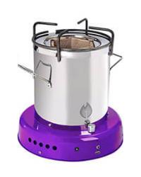 Off The Grid Bio Energy Cooker - Purple